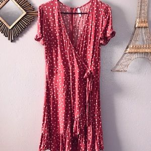 Polka Dot Ruffle Tie Dress, perfect for spring!